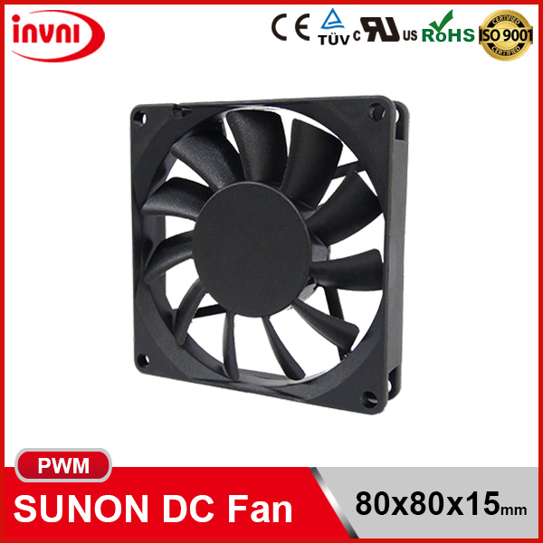 SUNON PWM 8015 80x15 80mm 80x80 80x80x15 mm Laptop PC 12V DC Axial Flow Cooling Fan 80x80x15mm (PSD1208PHB1-A.(2).B4543.F.GN)
