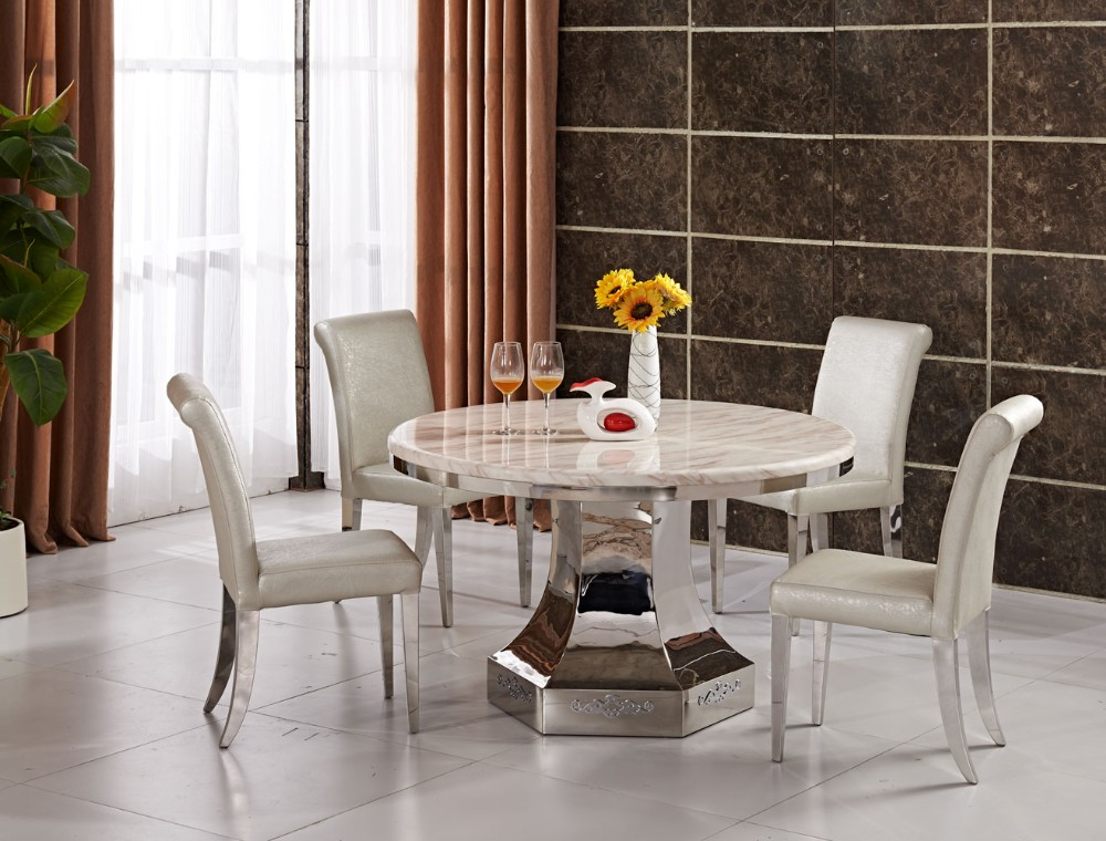 Round Marble Dining Table Set, Round Marble Dining Table Set ...