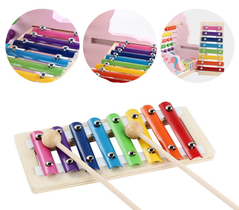 Abacus Math Spielzeug Pädagogisches Einhorn Musik Instrumente Outdoor Holz Xylophon Für Kinder
