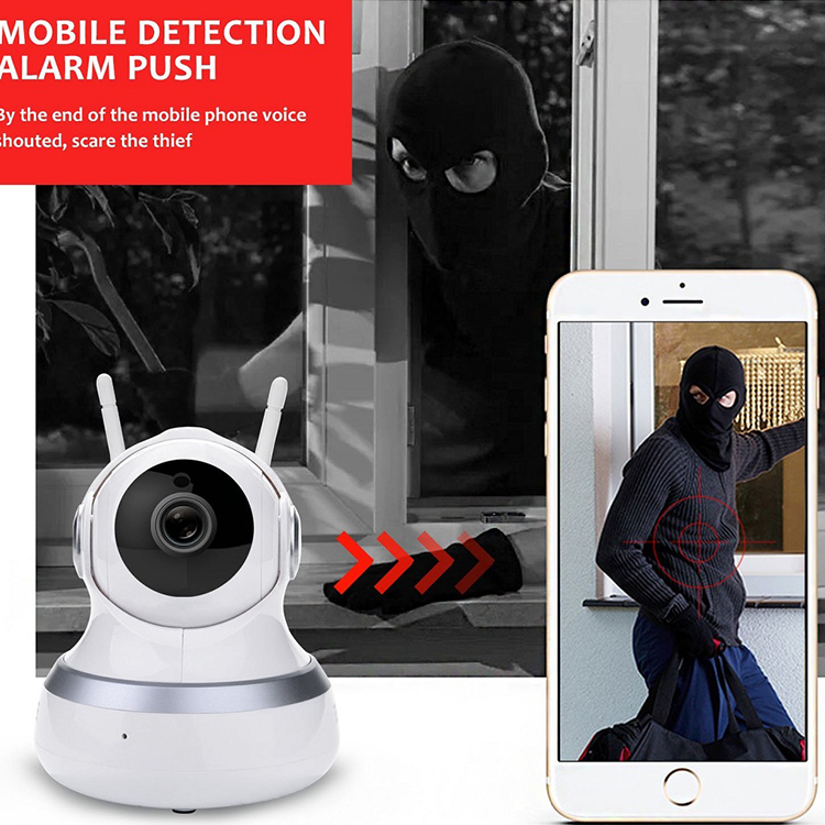 h.264 720p custom rotate tracking indoor wifi ip security camera ptz