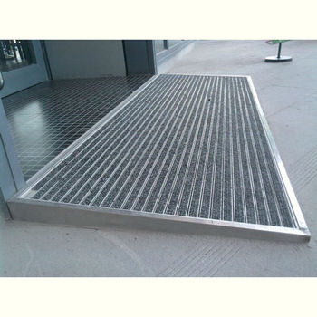 Aluminium Entrance Mats With Carpet Inserted/large Entrance Door Mats