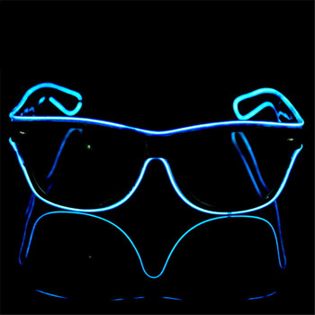 Hot selling el glasses Colorful LED Neon Glowing Light EL Wire Party Glasses for Gift Items