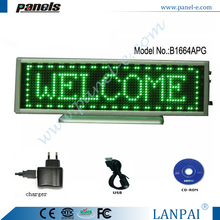 Cheap factory price rechargeable battery powered led sign