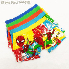 1 Pcs Children's Cotton Underwear Spiderman Boys Underwear Cartoon Boy Boxers Briefs Kids Character Panties Random Color NK1168