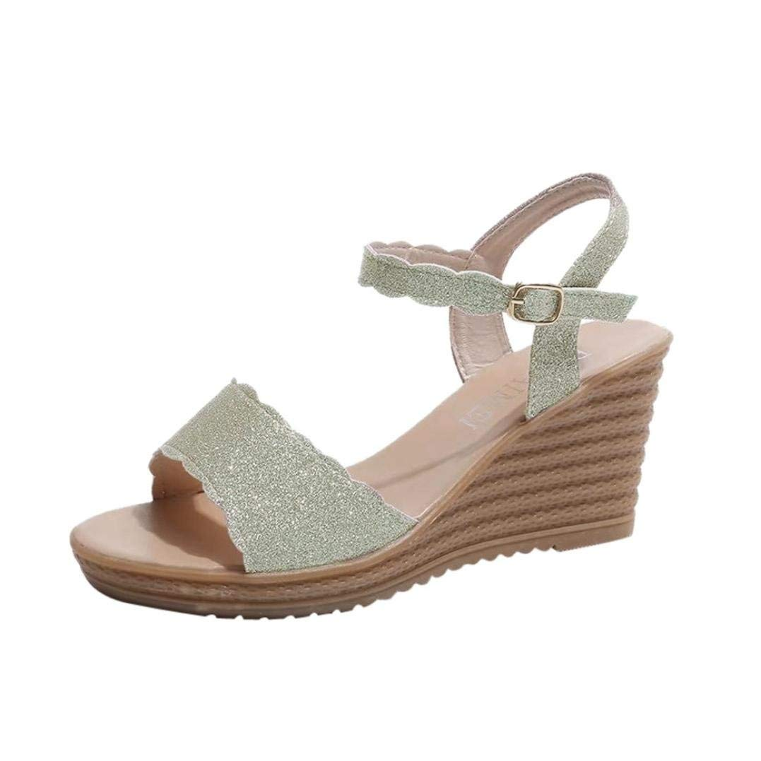 cc1c7a6693c10e Get Quotations · SUKEQ Women Sexy Platform Wedge Glitter Sandal