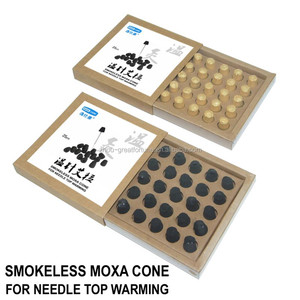 Charcoal Needle Top Warming Smokeless Moxa / Moxibustion Cone