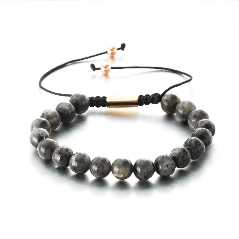 Natural Stone Custom Logo Handmade Romantic Love Jewel Anniversary Beaded Bracelet Femme фото