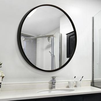 Simple Wooden Bathroom Mirror,Round Decorative Wall Mirror - Buy ...