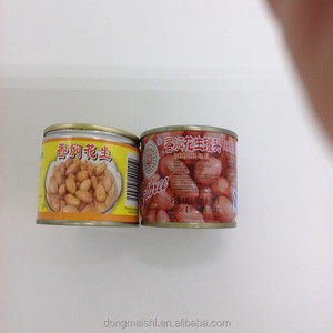 Salty whole kernels Peanuts in can tin