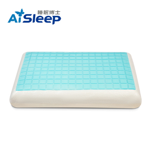 Aisleep Aqua Cool Fabric Neck Contour Pillow Memory Foam Cooling Gel Pillow Pad