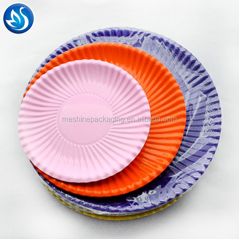 Low Price Printing Disposable square Paper Plate
