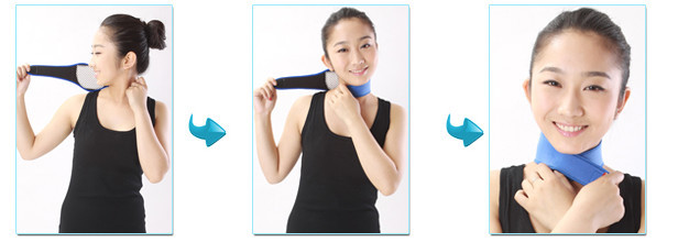 Hot selling high quality neoprene tourmaline self-heating magnetic neck support brace