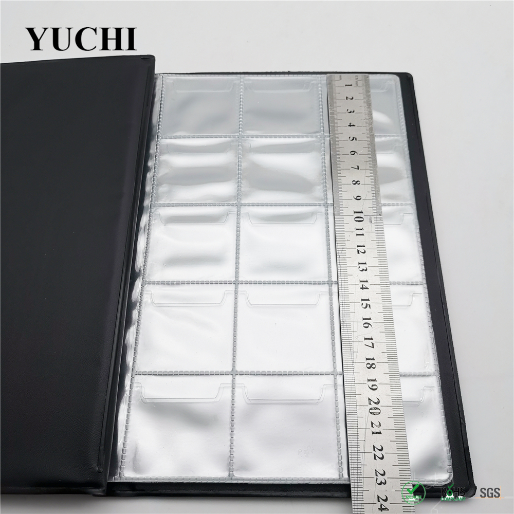 150 coins Wholesale customized coin straight Collection book unique style flip up coin album with PVC inner pages