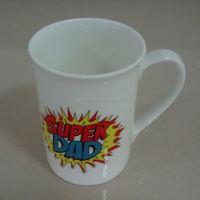 10oz Coated Sublimation Ceramic Custom Logo Print White Coffee Bone China Mug