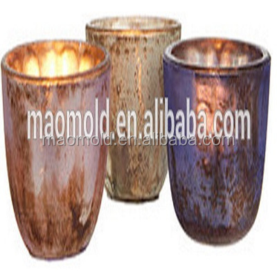 Matte Mercury Mini Tealight Bowls crystal candle holder