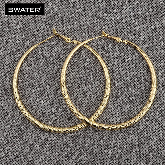 Fashion 2017 South Africa Style Thin Large Gold Hoop Earrings For Women