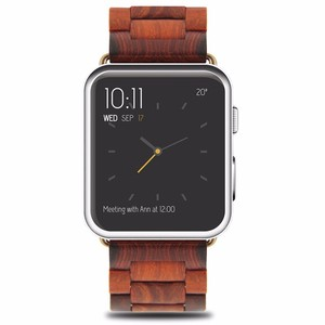 Natural Wood Custom 38mm/42mm OEM Wooden Watch Band For iWatch Wood Strap For Apple Watch