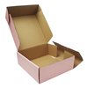 Custom E Flute Corrugated Cardboard Color Printed Roll End Tuck Top Paper Packaging Box