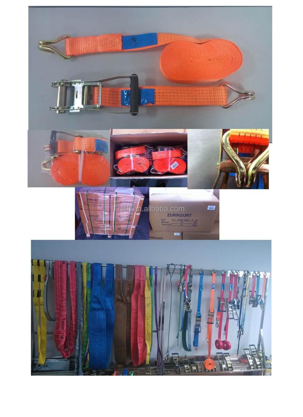 Hot Bán Hàng vận chuyển Hàng Hóa lshing/Ratchet Buckle Belt/Tie Xuống Dây Đai 25 mét-100 mét 0.5 t- 10 t