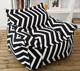 classic zebra stripe cotton canvas bean bag armchair white and black pattern bean bag sofa cover wholesale