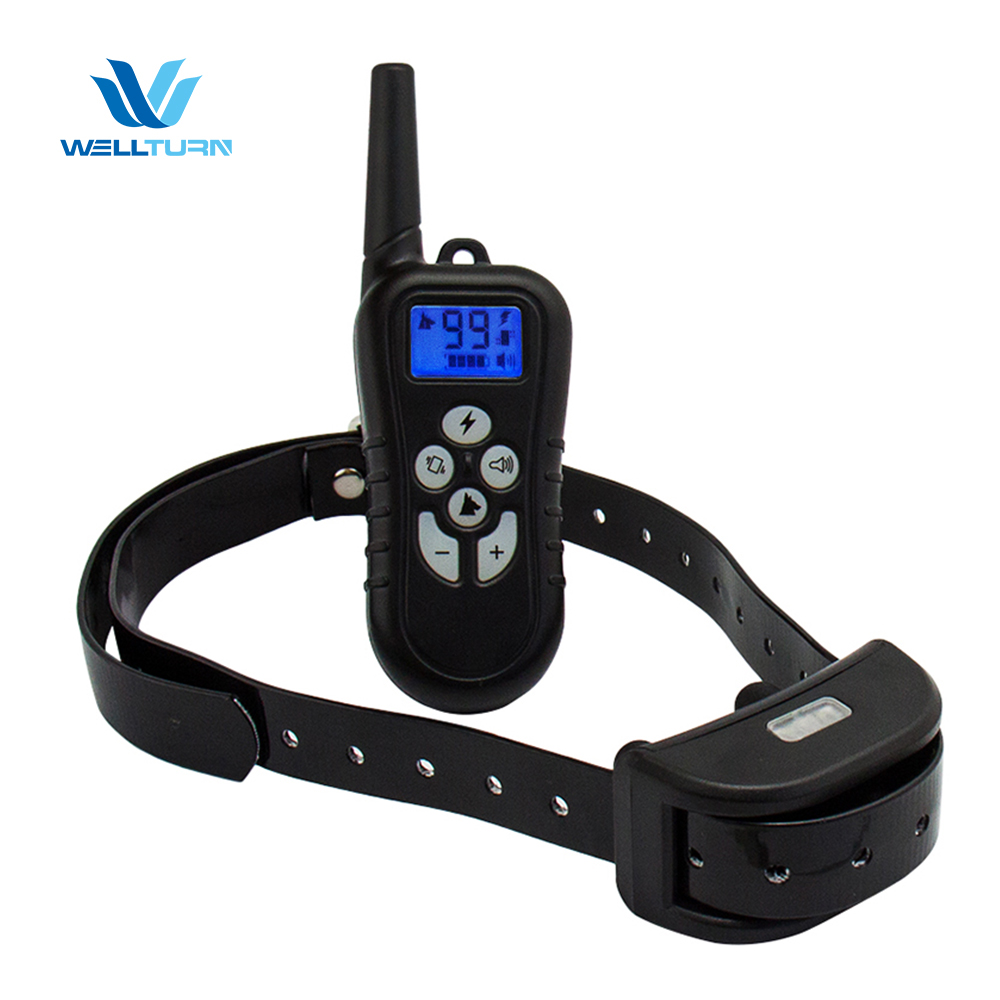 1000 M Choque Bip Eletrônico Pet trainer DOG TRAINING COLLAR Remoto com LCD