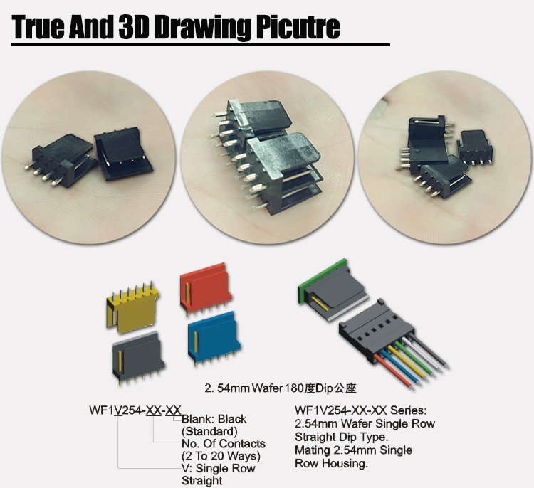Ip66 Waterproof Straight Type Small 2 3 4 5 6 Pin Connector Types ...