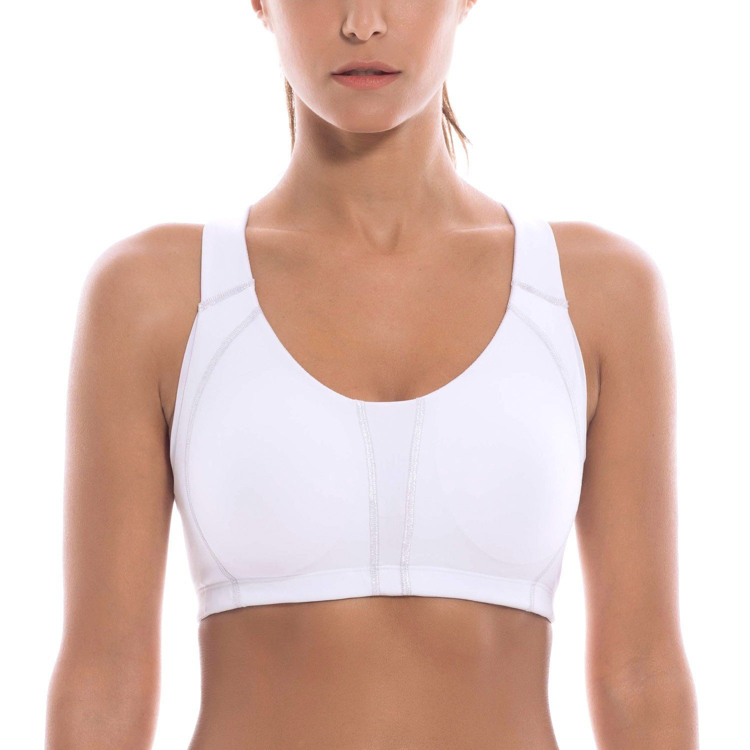 c0507e7f059c8 Get Quotations · La Isla Women s High Impact Wire Free Full Supportive  Racerback Sports Bra