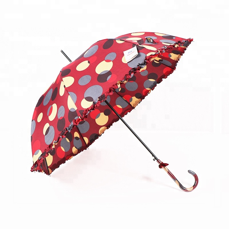 RST color lace polka dot umbrella bulk buy from china straight lady vogue umbrella oem lace umbrella