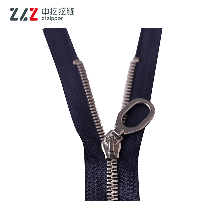 Zip Manufacturer Factory Price 5# Double Pointed Plating Nickel Closed End Metal Zipper