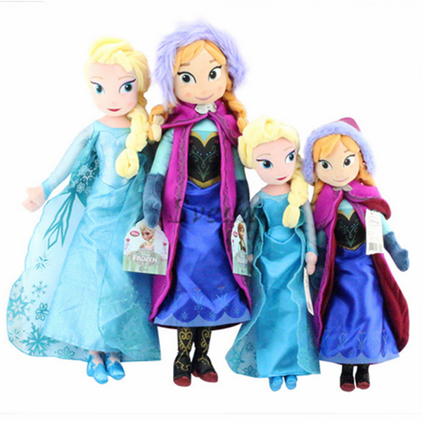 Hard-Working Disney Princess 50 Cm Anna Frozen Plush Cuddly Toy Girls New No Tags Elsa Film C Fashion, Character, Play Dolls