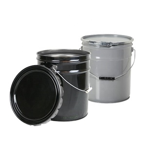 industrial 25kg steel metal gallon bucket tinplate un paint pail with lid