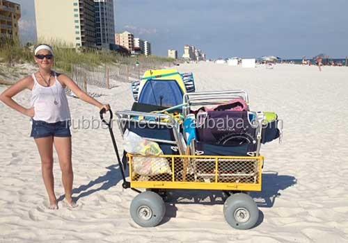 Beach Hand Truck Yellow Garden Folding Wagon Cart Tc1840a