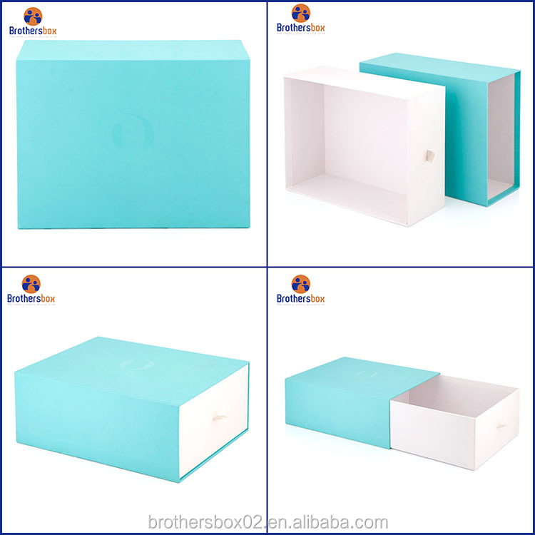 China supplier eco friendly Print rigid custom paper drawer box gift packaging