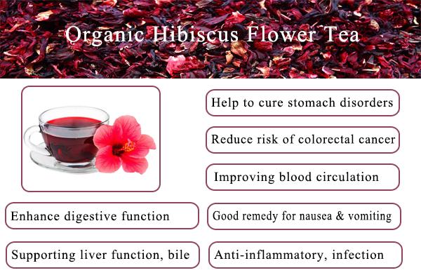 Lifeworth hibiscus flower powder tea - 4uTea   4uTea.com