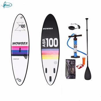 "Fissot PVC inflatable stand up paddle board 10'6"" with all accessories"