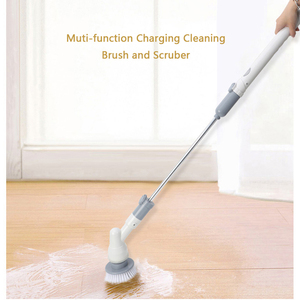 Household Cordless Handheld Electric Floor Sweeper Brush Cleaning Scrubber