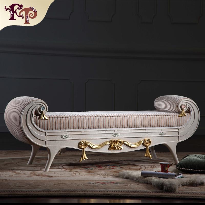 Muebles de dormitorio de madera de lujo de mano tallada hoja ...