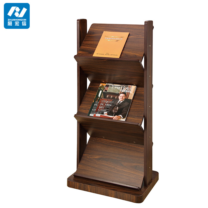Newspaper Stand Designs : Wood commercial floor magazine rack buy flooring
