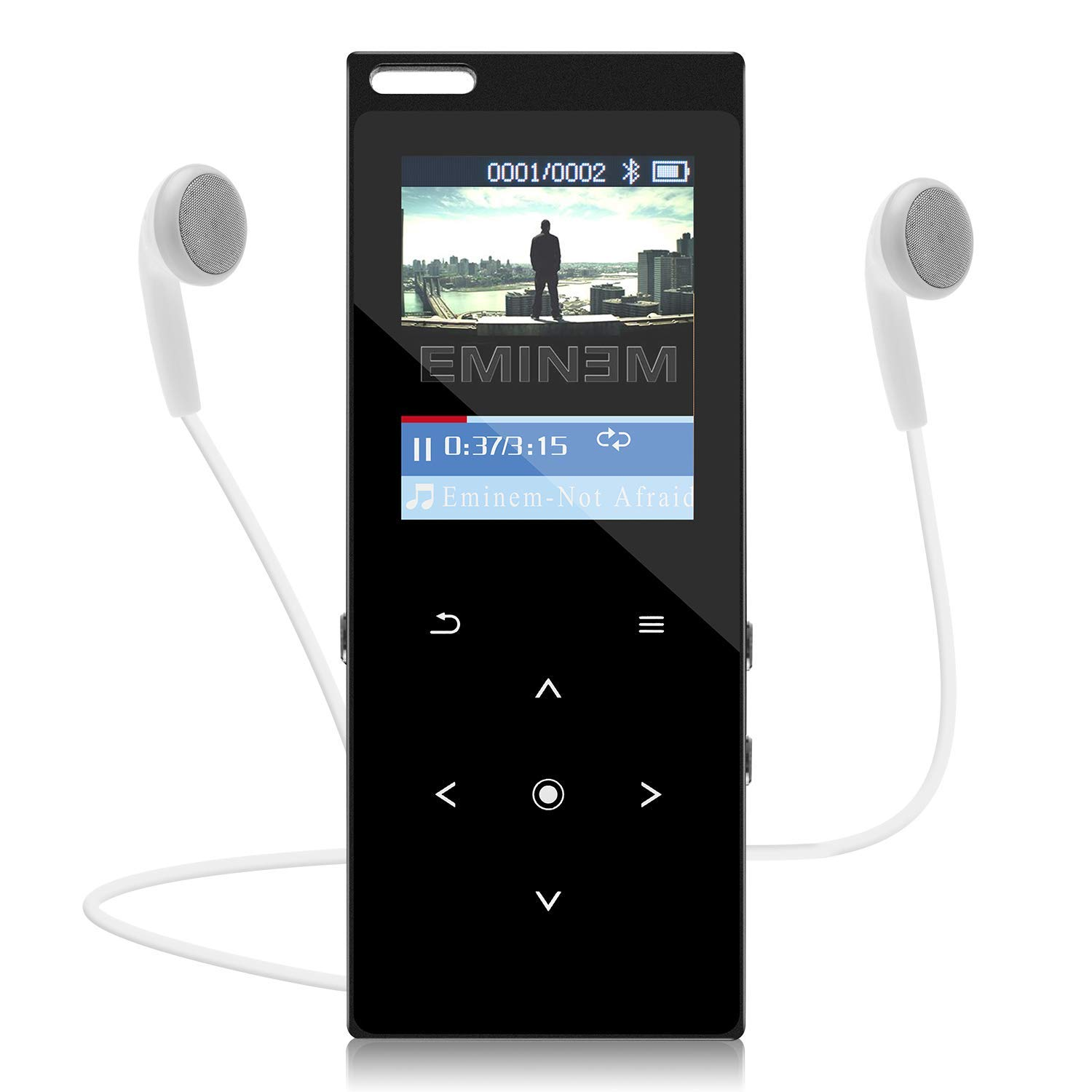 MP3 Player with Bluetooth,8GB Bluetooth MP3 Music Players with FM Raido/Speaker/Voice Recording/Video Player/64GB TF Card Expandable/E-Book