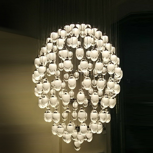 modern designer led acrylic pendant lighting chandelier for restaurant