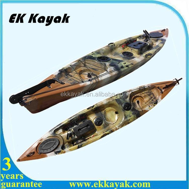 Special leisure lake fishing kayak with kayak foot pedal for Fishing kayak with foot pedals