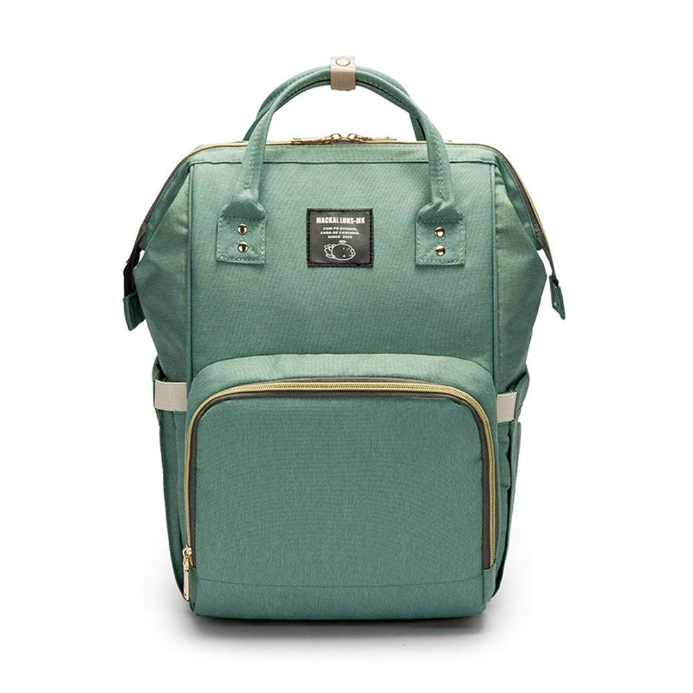 Mummy Bag Multi-Function Large Capacity Backpack Mother and Infant Bag Fashion Mother Backpack Out Diaper Bag (Green)