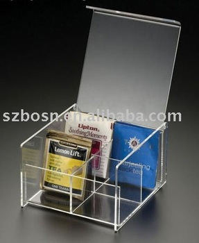Acrylic Tea Bag Box,Lucite Tea Bag Box,Plexiglass Tea Bag Dispenser