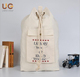 Wholesale Price large canvas linen fabric laundry bags with with drawstrings