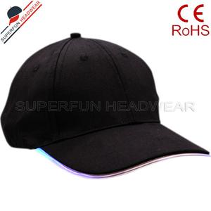 custom baseball cap with built in led light flashing fiber optic caps 14d381d9a234
