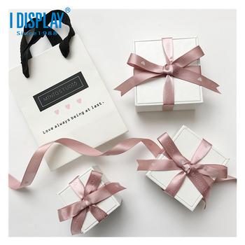 Accept Oem Logo Best Earrings Gift Box Luxury Design With Velvet Insert