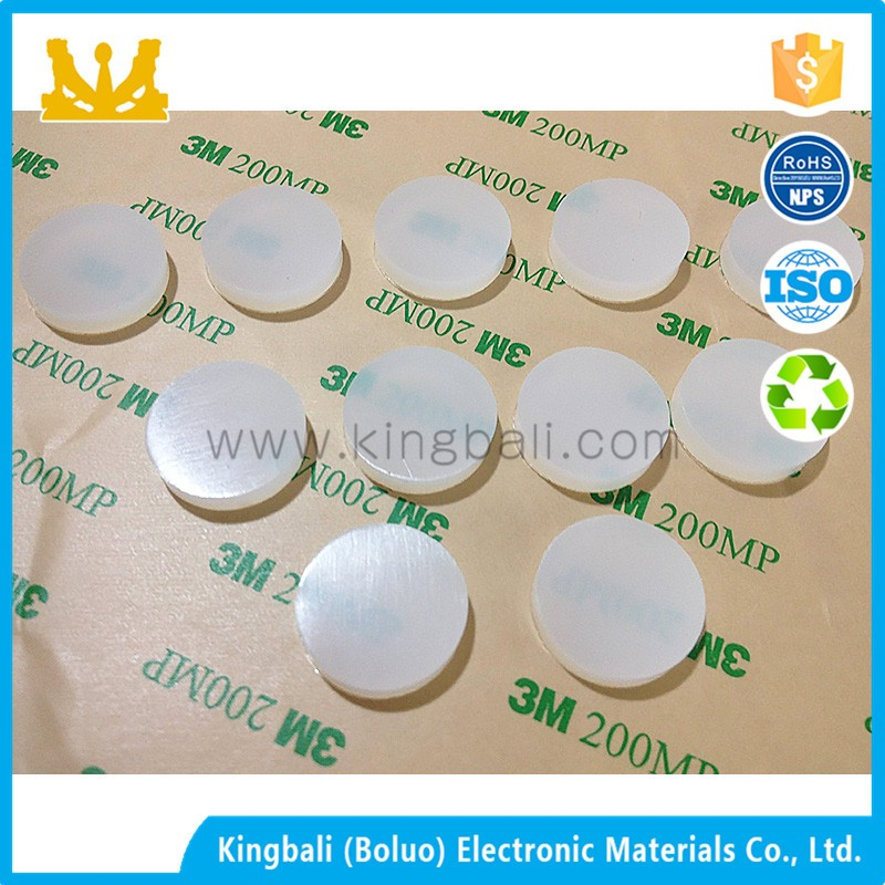 Custom electronics heat resistant adhesive silicone rubber foot pads