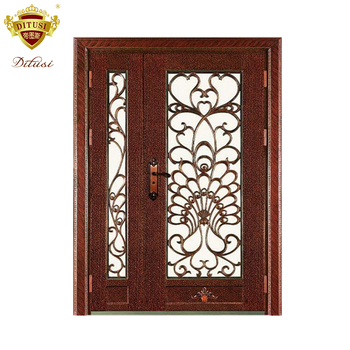 House Main Door Grill Design Front Entry Door Model Safety Wrought