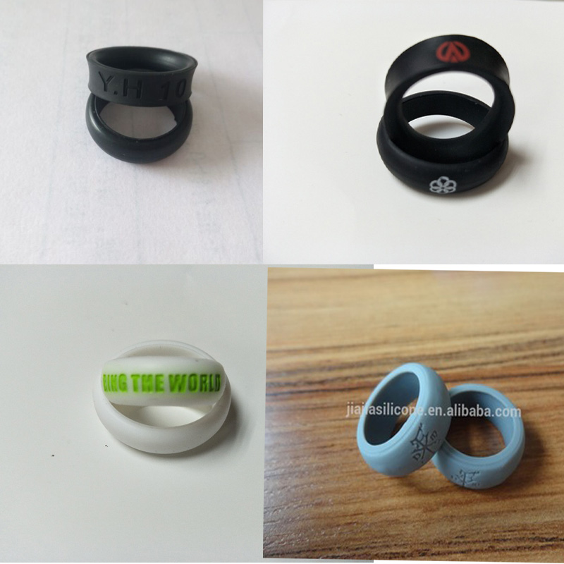 custom silicone women ring finger wedding ring