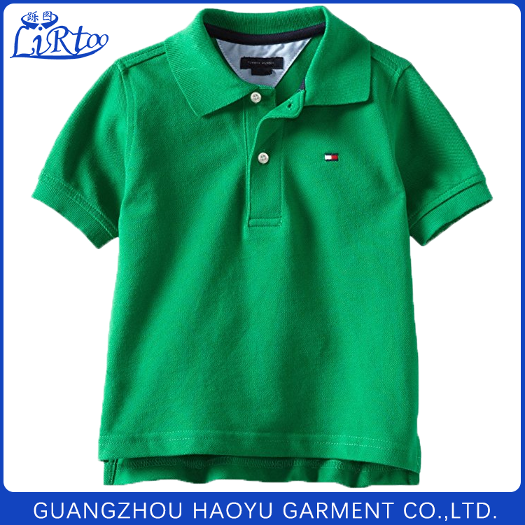 Custom comfortable primary school uniform design breathable t shirt sample for boys